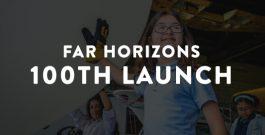Far Horizons 100th Launch Press Box