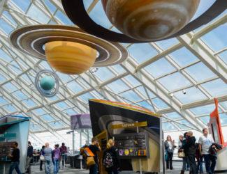 "The Adler's ""Solar System"" exhibition."