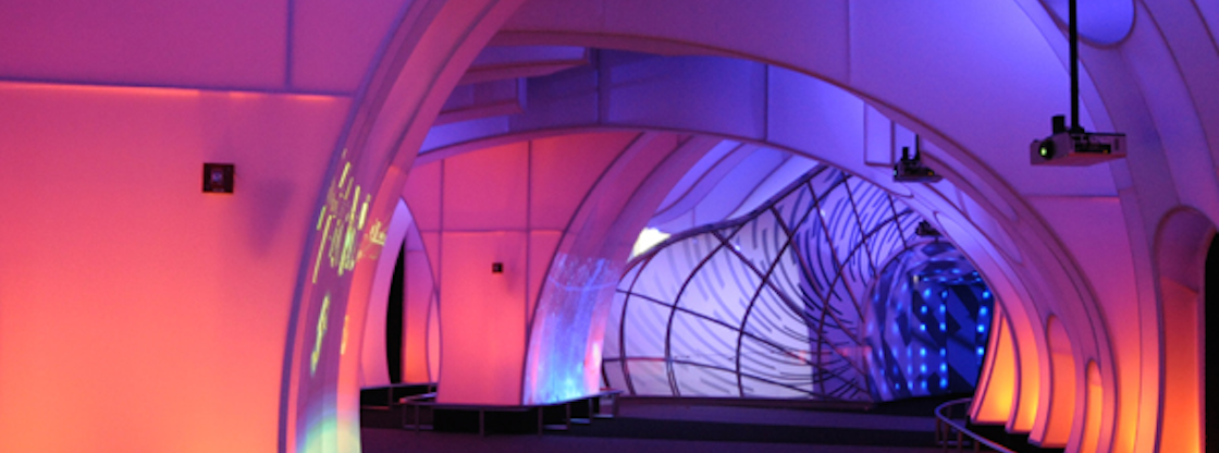 The Adler Planetarium's Clark Family Welcome Gallery is a one-of-a-kind immersive environment.