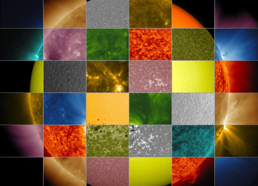 Patchwork Sun photo credit- NASA