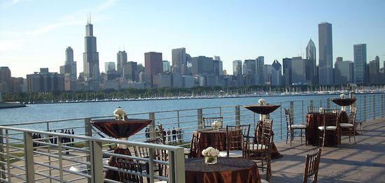 Host your next special event in the Adler Planetarium's Nancy A. Petrovich Skyline Terrace!