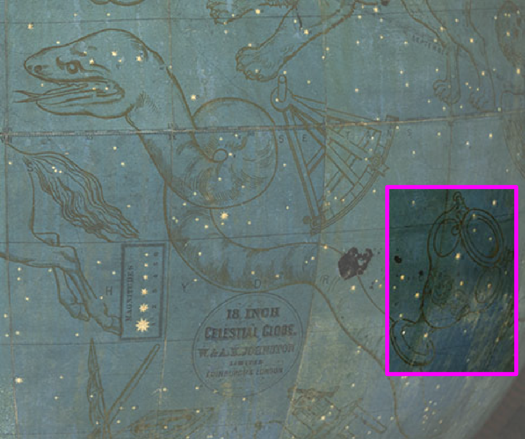 Constellation identification in The Adler Planetarium's Mapping Historic Skies interactive Zooniverse experience.