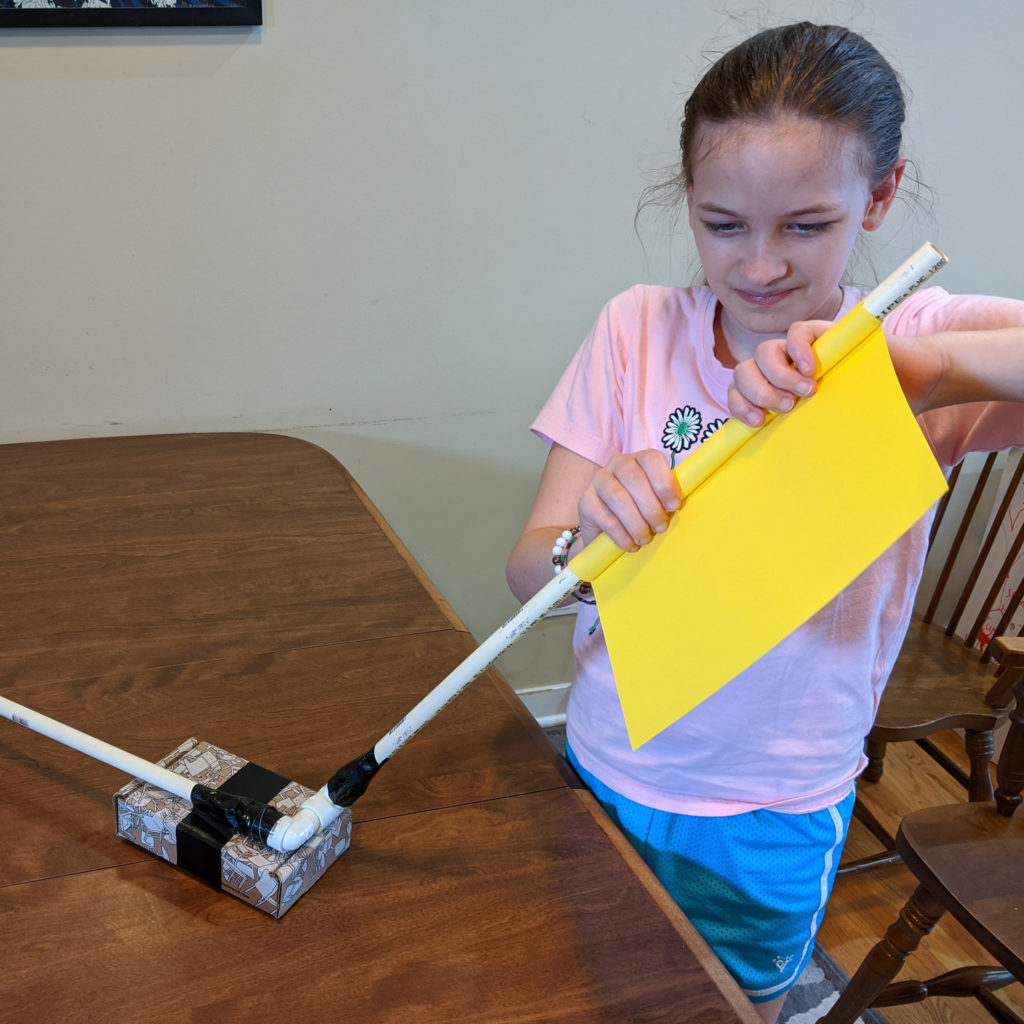 Use the PVC pipe to help shape the stomp rockets you will create